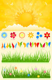 Spring collection stock illustration