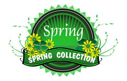 Spring collection badge Stock Photo
