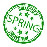 Spring collection rubber stamp, concept consumerism vector. Spring new collection seal badge isolated on white illustration vector illustration