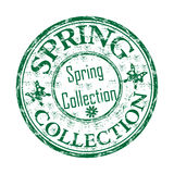 Spring collection rubber stamp Royalty Free Stock Photos