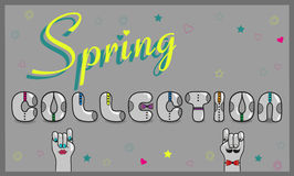 Spring Collection - vintage card Stock Images