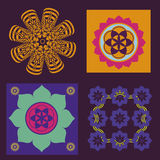 Floral color floral mandalas Stock Images