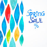Spring color sale watercolor Royalty Free Stock Photos