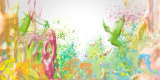 Spring. Colored  background  with  abstract forms Royalty Free Stock Images