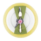Spring colored place setting Stock Photos