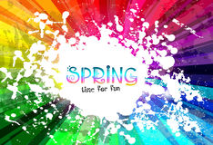 Spring Colorful Explosion of colors background for your party flyers Stock Photography