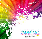 Spring Colorful Explosion Of Colors Background For Your Party Flyers Royalty Free Stock Photos