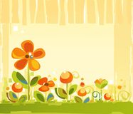 Floral Abstract Background. A Spring Colorful Floral Background Stock Photos