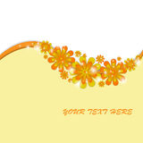 Spring colorful flower background. Beautiful spring background with yellow flowers. Sample text Royalty Free Stock Image