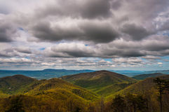 Spring colors in the Appalachians on a cloudy day,   in Shenandoah National Park, Virginia. Stock Photo