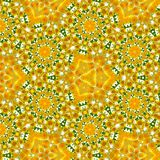 Spring colors continuous geometric pattern of camomile and dandelion in yellow and white stock illustration