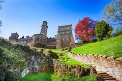 Spring colors of Lion castle Lowenburg Stock Images