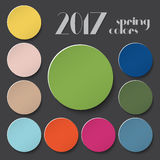 2017 spring colors palette. Circles Royalty Free Stock Photo