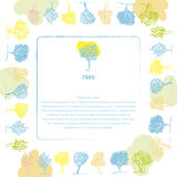 Spring colors tree design. Royalty Free Stock Photography