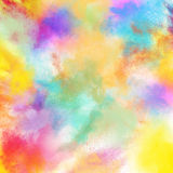 Spring colourful burst. Background of burst of bright colored powders Stock Photography