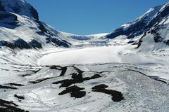 Spring columbia icefield stock photos