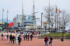 Spring Comes to Baltimore Inner Harbor Stock Images