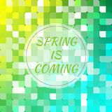 Spring is coming. Abstract background. Vector illustration Royalty Free Stock Photo