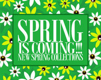 Spring is coming card Stock Images