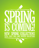 Spring is coming design. Stock Photo