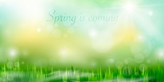 Spring is coming stock illustration