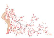 Spring coming vector Stock Photos