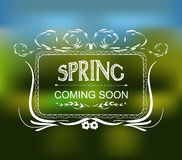 Spring coming soon typographic design Royalty Free Stock Image
