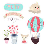Spring is coming Vector Set Stock Image