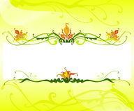 Spring concept. An illustration of floral background ideal for spring call-outs, brochure, magazine cover and Stock Images