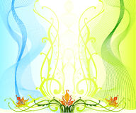 Spring concept design. An ideal background for spring related concept Stock Images