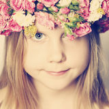Spring concept young face Stock Images