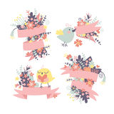 Spring congratulatory background Stock Images