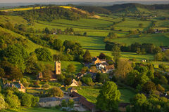 Spring at Corton Denham, Somerset, UK. Evening sunshine in spring at Corton Denham, Somerset, UK Stock Photos