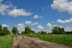 Spring country landscape Royalty Free Stock Images