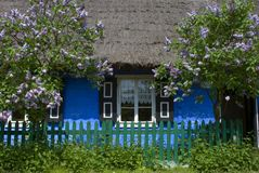 Spring countryside house Stock Photo