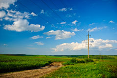 Spring Countryside Landscape Royalty Free Stock Photos