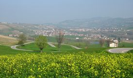 Spring countryside landscape Royalty Free Stock Image