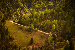 Spring countryside landscape. Bicaz, Romania Royalty Free Stock Images