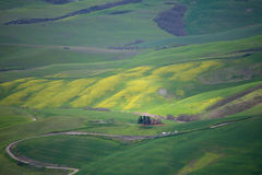 Spring countryside Tuscany Stock Photo