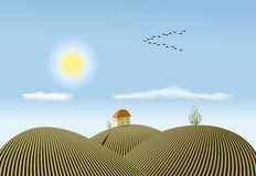 Spring countryside view Stock Photo