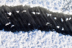 Spring crack in ice Stock Photos