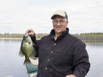 Spring Crappie Fishing Royalty Free Stock Photo