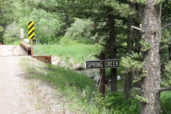 Spring Creek Montana Stock Images