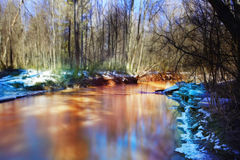 Spring creek water landscape Royalty Free Stock Photos