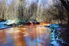 Spring creek water landscape Stock Photography