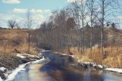 Spring creek water landscape Stock Photos