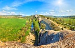 Spring Crimea Mountain landscape (Ukraine). Royalty Free Stock Photography