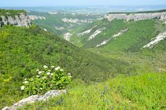 Spring Crimea, the views from the mountain Mangup. шт ыгттн вфн royalty free stock image