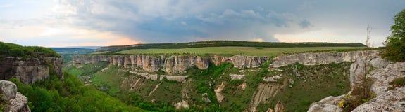 Spring Crimean mountain landscape (Ukraine) Stock Image