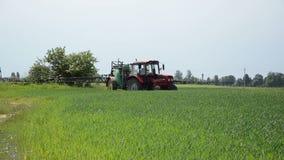 Spring crop tractor stock video